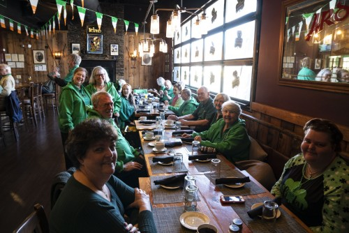 Destination: Lahinch for a traditional Irish breakfast buffet.  Over 25 RKIDs, family and friends came out to enjoy the company, music, food and did a little dancing.